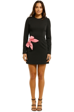 Rebecca-Vallance-Winslow-LS-Mini-Dress-Black-Front