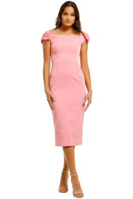 Rebecca-Vallance-Winslow-Midi-Dress-Pink-Front