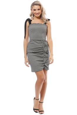 Rebecca Vallance - Brigitte Mini Dress - Black White - Front