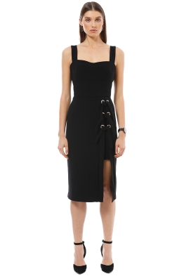 Rebecca Vallance - Celestina Tie Dress - Black - Front