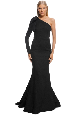 9cb8ad5561f Rebecca Vallance - Harlow Bow Gown - Black - Front