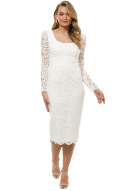 Rebecca Vallance - Le Saint Lace Dress - Ivory - Front