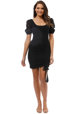Rebecca Vallance - Le Saint Lace Mini Dress - Black - Front