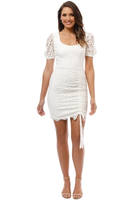 Rebecca Vallance - Le Saint Mini Dress - Ivory - Front