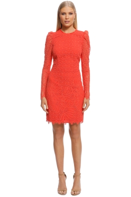 Rebecca Vallance - Mae Lace Mini Dress - Orange - Front