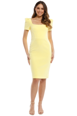 Rebecca Vallance - Zinnia Open Back Dress - Yellow - Front