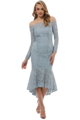 Rodeo Show - Abella Lace Dress - Blue - Front