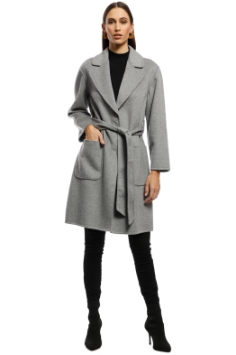 Rodeo Show - Chicago Coat - Light Grey - Front