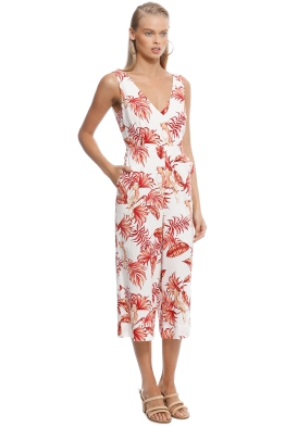 541234e3b9 Rodeo Show - Love Bird Jumpsuit - White Floral - Front