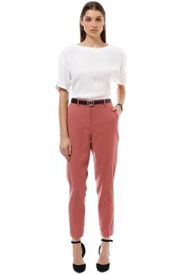 Saba - Celeste Wool Suit Pant - Musk - Front