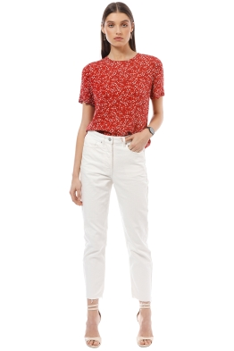 Saba - Droplet Silk Tee - Red - Front