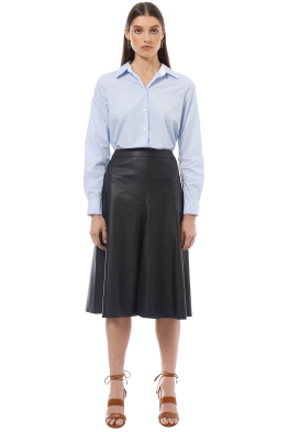 Saba - Ivy Semi-Fitted Shirt - Blue - Front