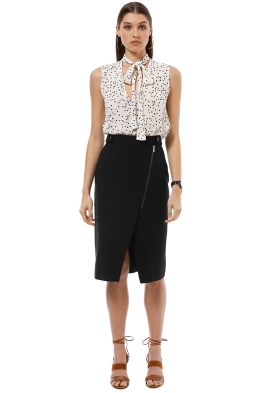 Saba - Trinity Slim Skirt - Black - Front