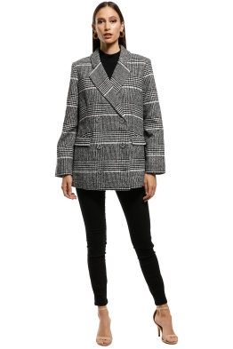 Saints The Label - Hampshire Double Breasted Coat - Grey - Front