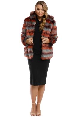 9712bc0ae Saylor - Paula Faux Fur Jacket - Multi - Front