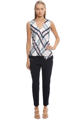 Scanlan Theodore - Plaid Bias Top - White - Front
