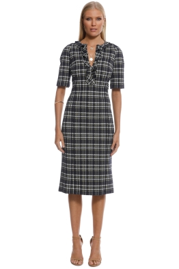 Scanlan Theodore - Plaid Ruffle Dress - Front
