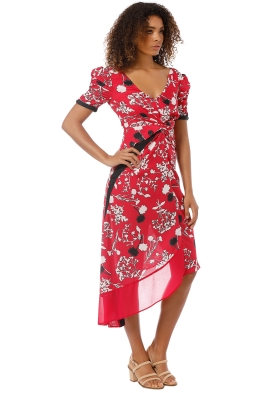8dc3dd63c74 Self Portrait - Floral Print Dress - Red - Front