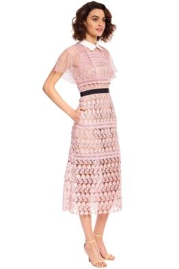5b14713a91f Self Portrait - Floral Vine Cape Midi Dress - Pink - Front