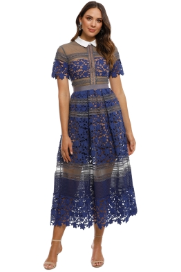 Self Portrait - Liliana Dress - Blue - Front