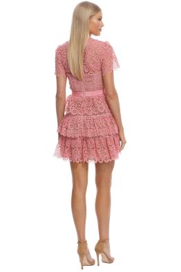 df7d3841df Self Portrait - Pink Tiered Dress - Pink - Front
