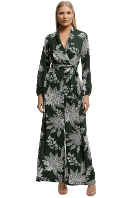 Sheike-Fauna Jumpsuit-Topical Print-Front