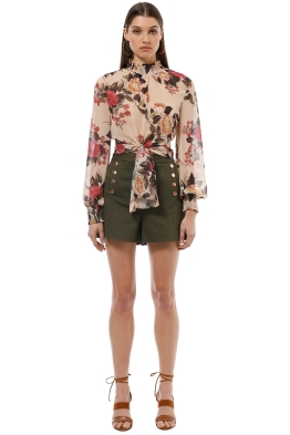 Sheike - Billy Blouse - Cream Floral - Front