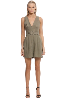 Sheike - Milly Playsuit - Khaki - Front