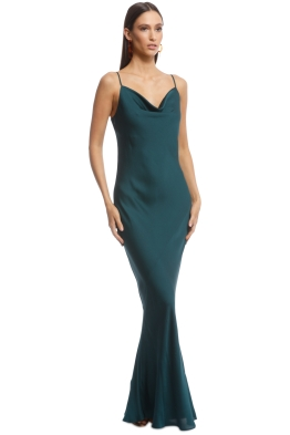 af9f482fef4 Shona Joy - Luxe Bias Cowl Slip Dress - Emerald - Front