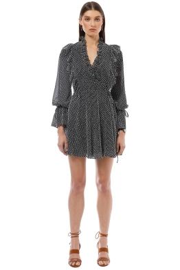 Shona Joy - Salinger Ruffle Mini Dress - Grey - Front