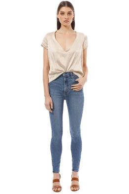 Silk Laundry - Reversible Silk Shirt - Cream - Front
