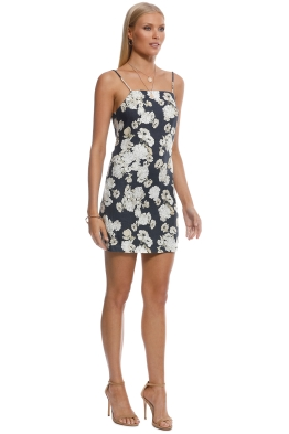 ffd85ce228 SIR the Label - Bellagio Mini Dress - Black Floral - Front
