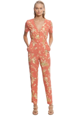 SIR The Label - Florentine Panelled Jumpsuit - Orange - Front