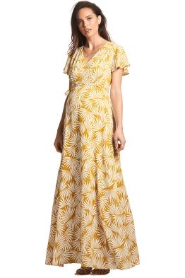 Soon-Maternity-Elizabeth-Maxi-Dress-Yellow-Sun-Print-Front