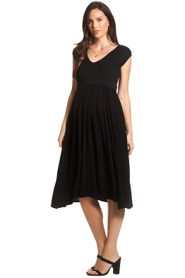 Soon-Maternity-Francis-Feeding-Midi-Dress-Black-Front