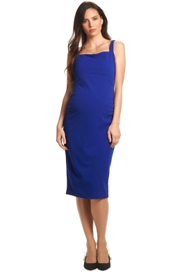 Soon-Maternity-Rosie-Dress-Cobalt-Blue-Front