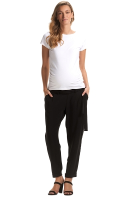 Soon-Maternity-Shiloh-Pants-Black-Haust-Front