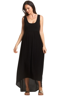 Soon-Maternity-Sia-Maxi-Dress-Black-Front
