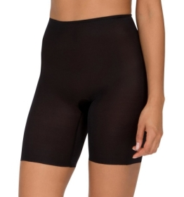 Spanx - Skinny Britches Black Mid Thigh Short - Black - Front