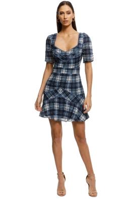 Stevie-May-Devon-Mini-Dress-Navy-Plaid-Print-Front