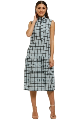 Stevie-May-Manners-Midi-Dress-Aqua-Large-Check-Front