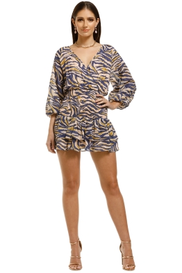Suboo-Into-The-Wilds-Mini-Dress-Animal-Print-Front