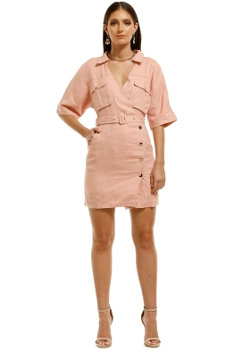 Suboo-Manny-Utility-Mini-Dress-Pink-Front