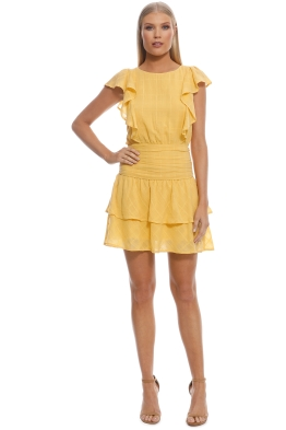 Suboo - Morning Light Ruffled Mini Dress - Yellow - Front