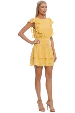 768a245347aa Suboo - Morning Light Ruffled Mini Dress - Yellow - Front