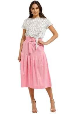 SWF-Floss-Midi-Skirt-Pink-Front
