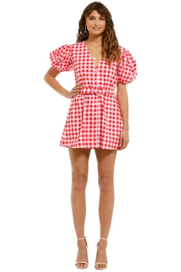 SWF-Gingham-floss-Mini-Dress-Pink-Plaid-Front