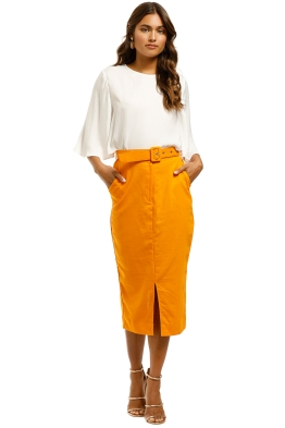 SWF-Orange-Pencil-Skirt-Orange-Front