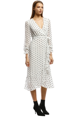 5f50b50cacaa Talulah-Something About You LS Midi Dress-Black White-Side