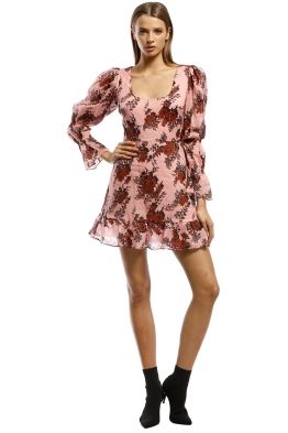Talulah-Take A Chance LS Mini Dress-Pink-Front